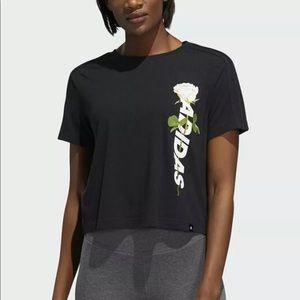 Adidas Floral Essentials Short Sleeves T-Shirt